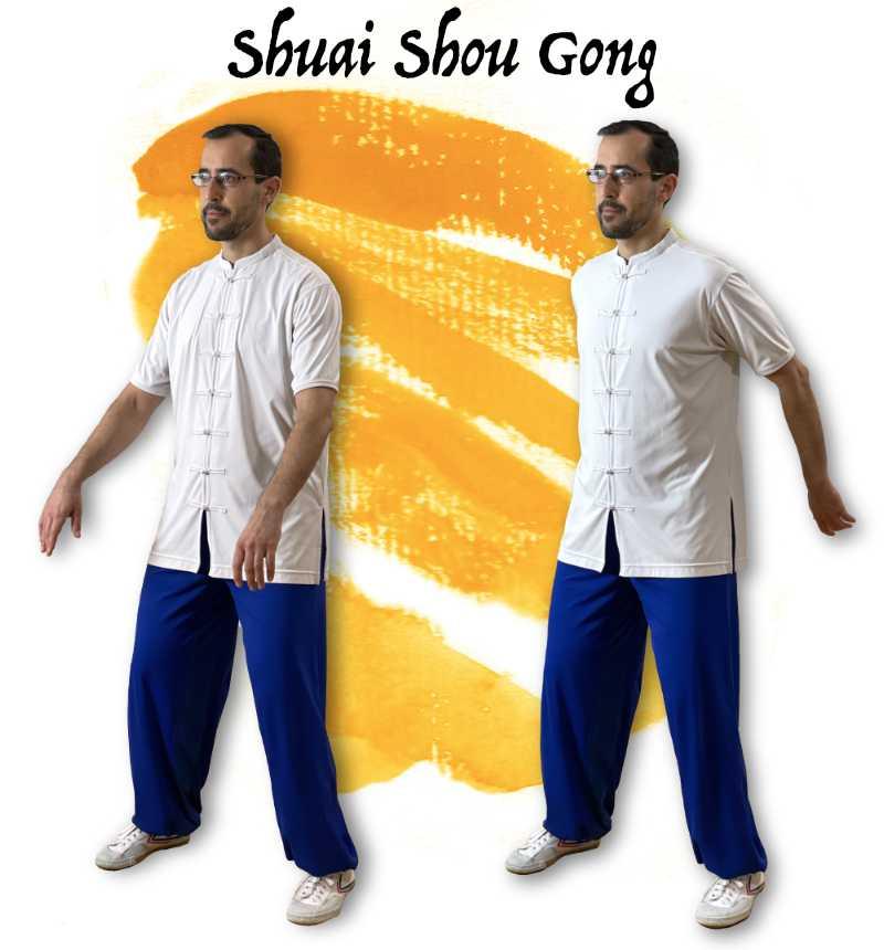 posiciones para el chikung de oscilación de los brazos. Shuai Hoy Gong
